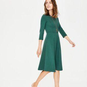 Boden Irene Ponte Dress Green Sz 4R